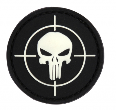 Купити Патч 101 INC Punisher Sight 3D PVC Black/White в магазині Strikeshop