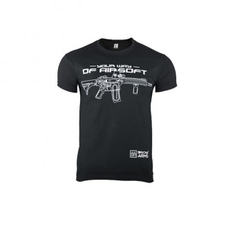 Купити Футболка Specna Arms Your Way of Airsoft V.2 Black Size S в магазині Strikeshop